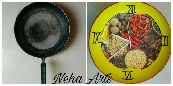 DIY: Make wall clock from Fry Pan