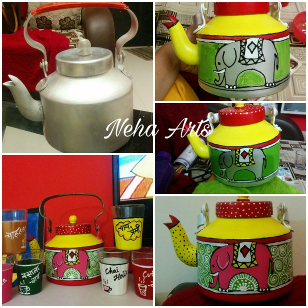 handpainted kettle