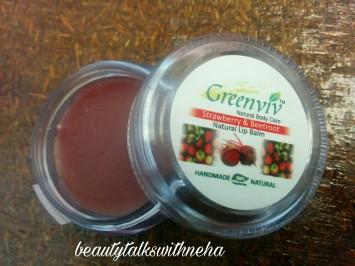 Greenviv Natural Care Strawberry and Beetroot Natural Lip Balm