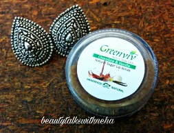 Greenviv Natural Body Care Chocolate&Vanilla Natural Sugar Lip Scrub